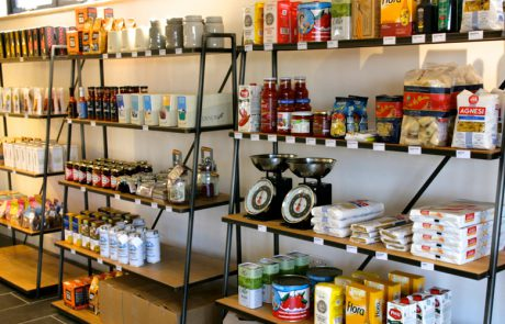 St Ives Brewhouse Cafe shelves
