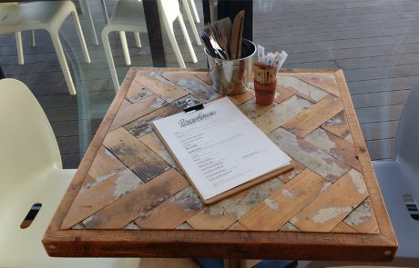 St Ives Brewhouse Cafe tables