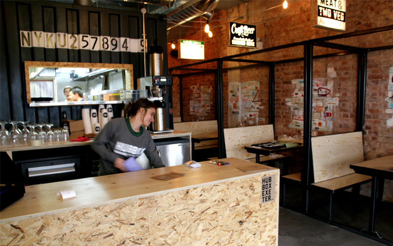 Hubbox Exeter bar