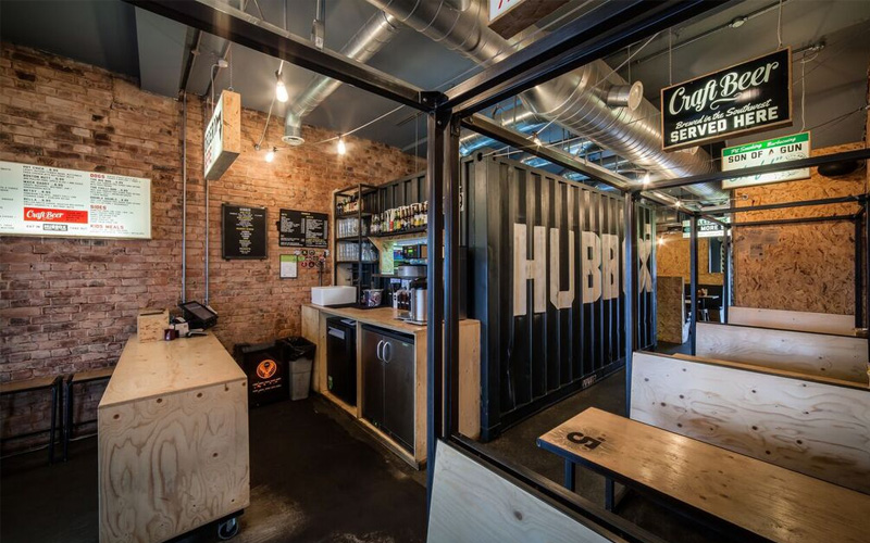 Hubbox Exeter shipping container