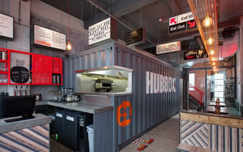 Hubbox Plymouth bar and kitchen