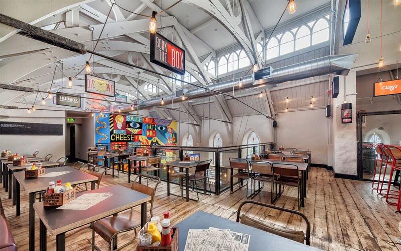 Hubbox Truro upstairs restaurant
