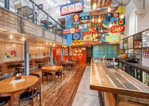 Hubbox Truro bar and floor