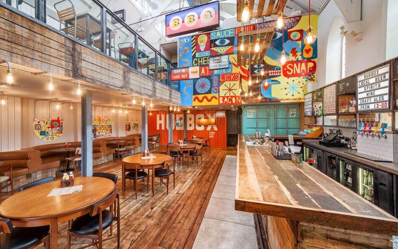 Hubbox Truro bar and floor