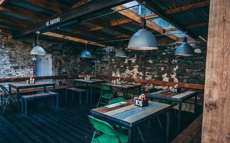 Hubbox Truro restaurant floor
