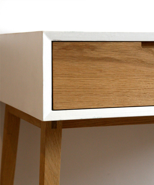 Gekko Designs Desk with Oak drawers