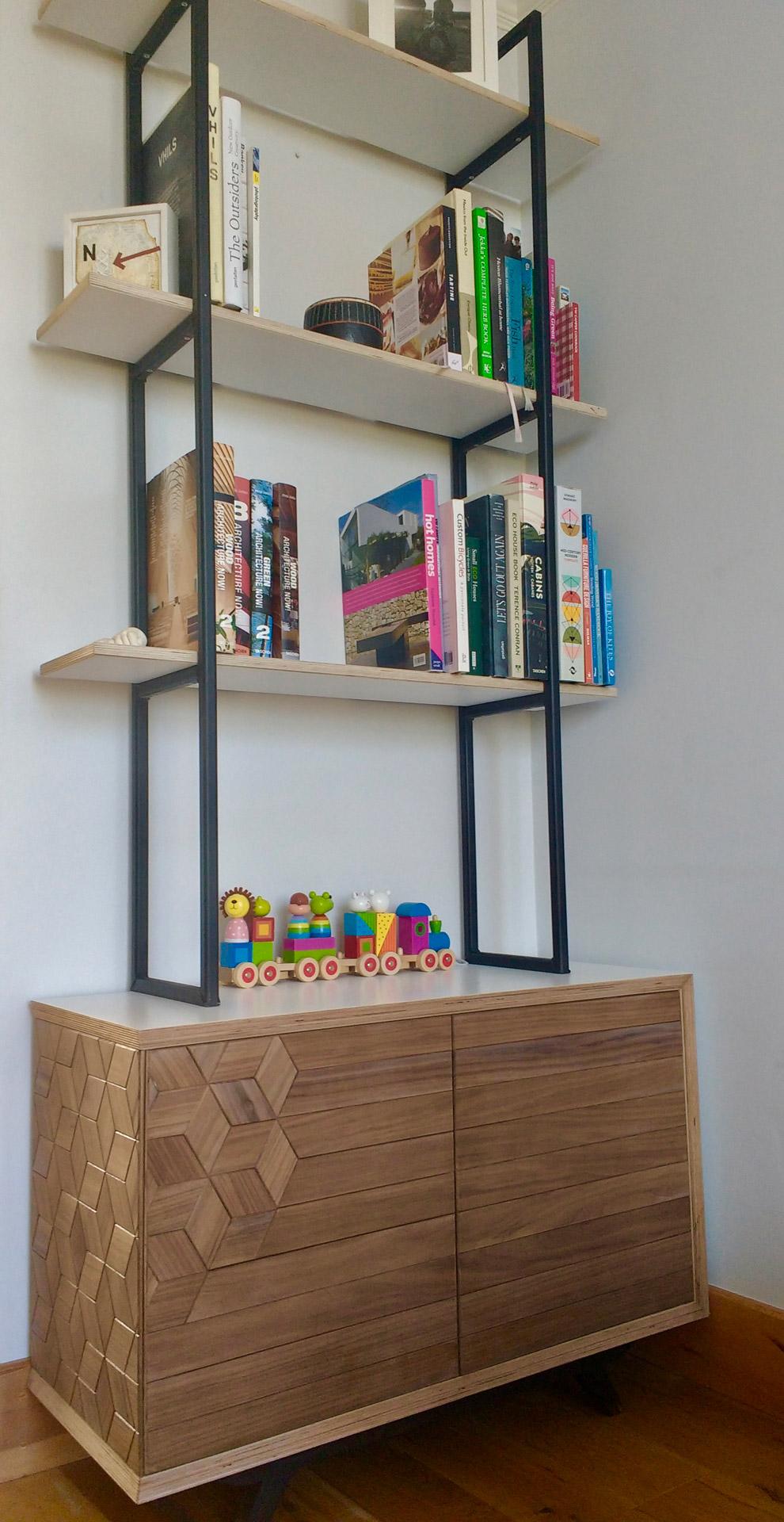 Gekko Designs walnut bookcase