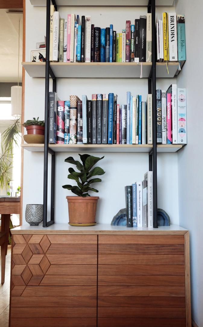Gekko Designs Walnut bookcase front